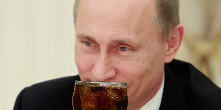 Vladimir Putin's Nose Delightfully Ticked by Soda Pop Bubbles