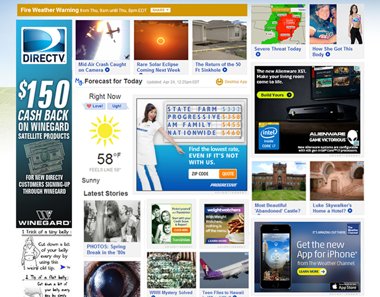Weather Channel Ad Site