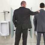 Manager Holds Impromptu Meeting, Penis At Urinal