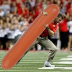 Here is Anthony Schlegel Tackling a Giant Hot Dog