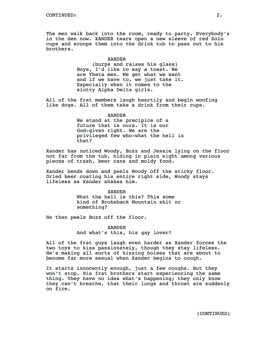 Toy Story 5 Leaked Script
