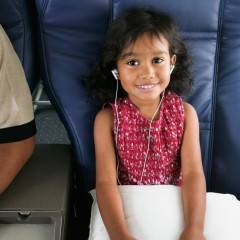 Generous Airplane Legroom Wasted on Child