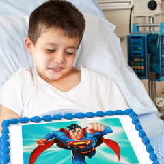 Superman Cake Served at Cancer Patient's 7th Birthday Party