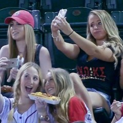 BREAKING: The Selfie Girls at the Arizona Diamondbacks Game are Regular Baseball Fans
