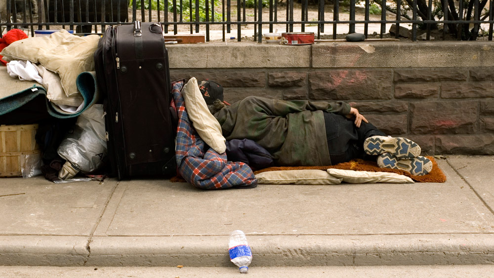 Homeless Man Sleeping and Probably Not Dead