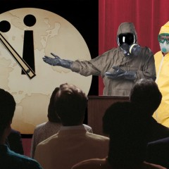 Doomsday Clock Scientists Wearing Hazmat Suits for Some Reason