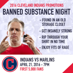 Cleveland Indians to Host 'Banned Substance Night'