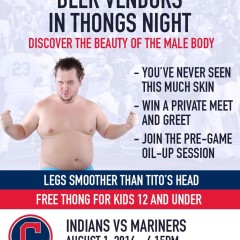 Cleveland Indians to Host 'Beer Vendors in Thongs Night'