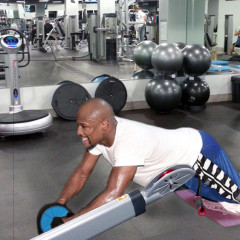 Floyd Mayweather Working Out at Bally Total Fitness for Some Reason
