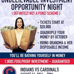 Cleveland Indians to Host 'Unbelievable Investment Opportunity Night'