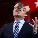 Ted Cruz's Skin Suit Beginning to Tear at Seams