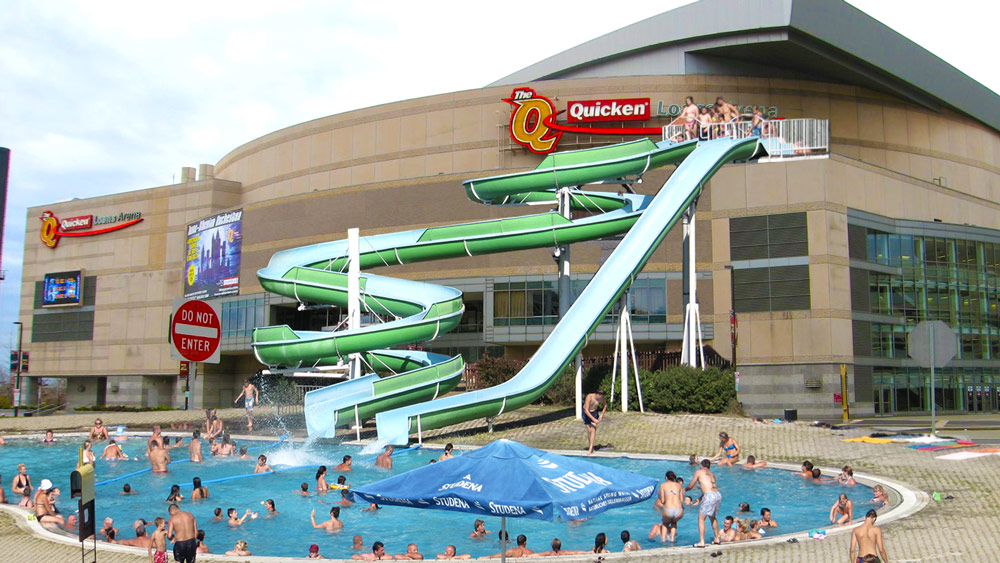 Republican National Convention Water Slide