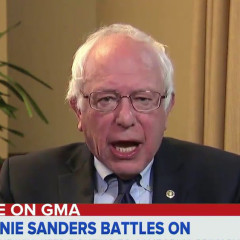 Bernie Sanders Mouths 'Help Me' Into TV Camera