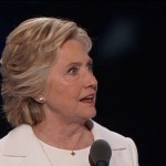 Hillary Clinton Realizes During Acceptance Speech She Left Staffer's Testicles in Vice