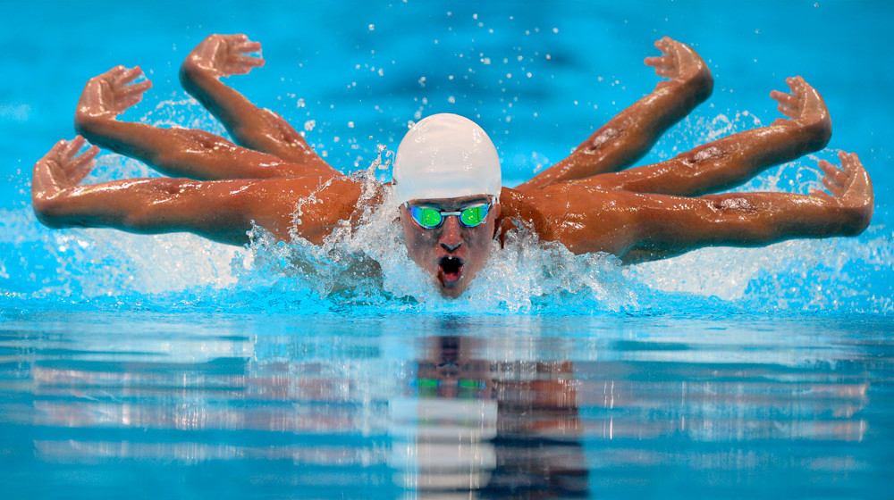Olympic Swimmer Six Arms