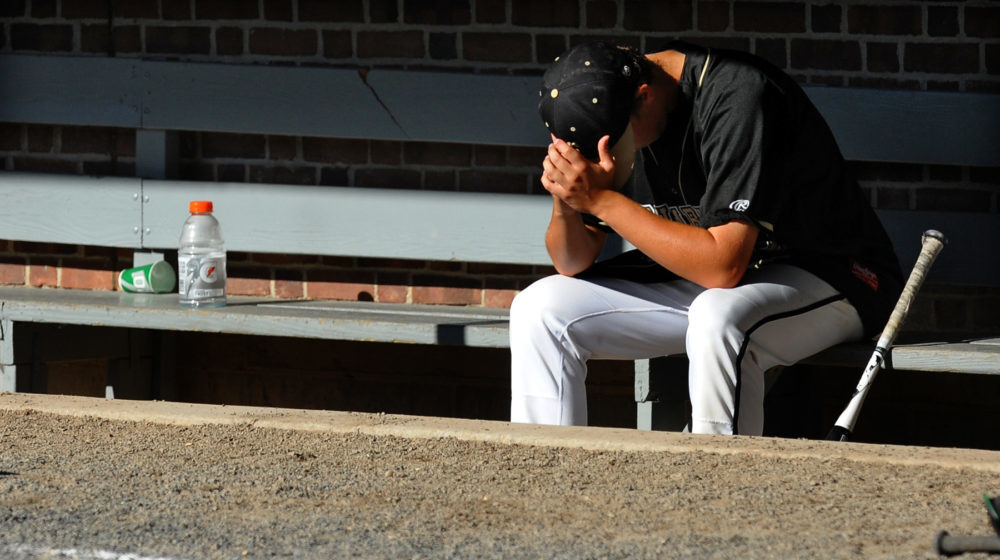 Sad Baseball Player