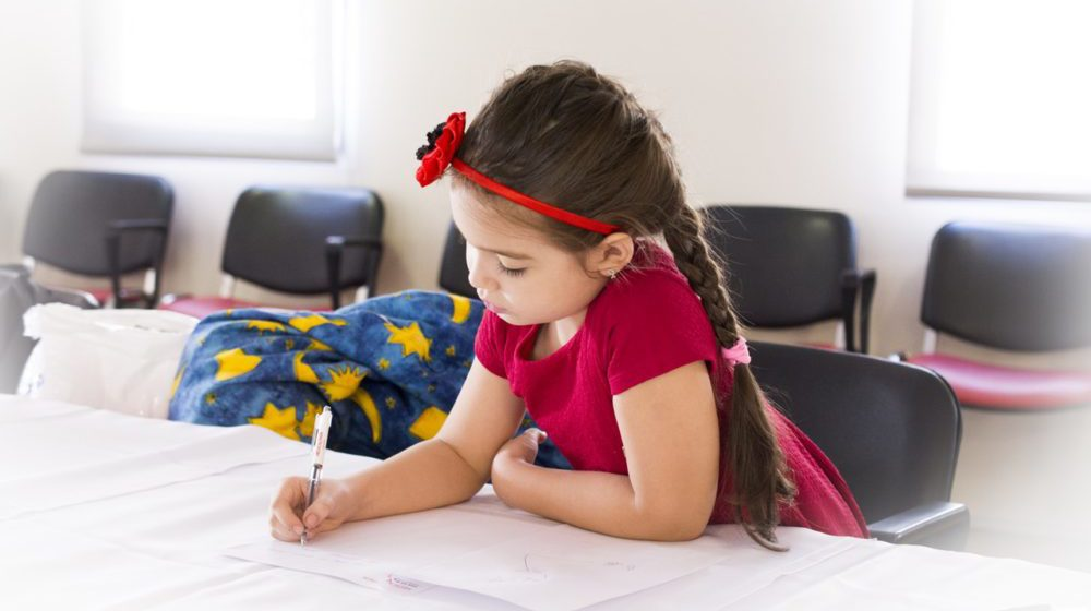 Little Girl Writing Letter