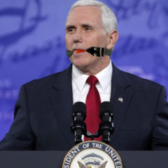 Big-League Blunder: Mike Pence Starts Press Conference With Ball Gag Still in Mouth