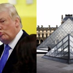 President Trump Found Sexually Harassing Louvre Pyramid