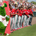 Phillie Phanatic Becomes First Mascot to Take a Shower During National Anthem