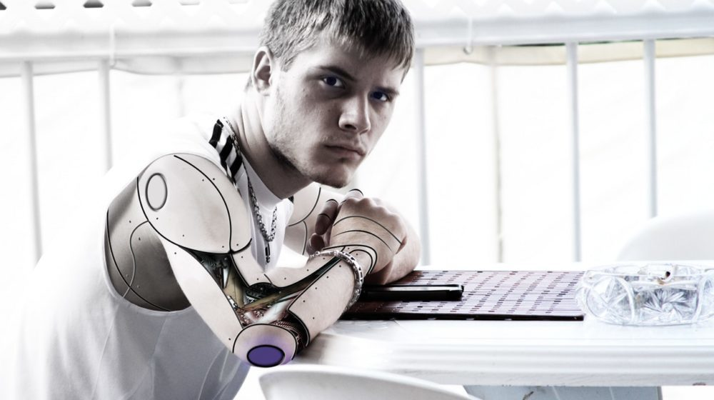 Man With Robotic Arm