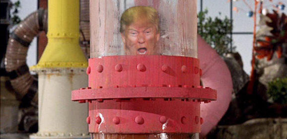 Trump Becomes Stuck in Chocolate Pipe During Tour of Candy Factory