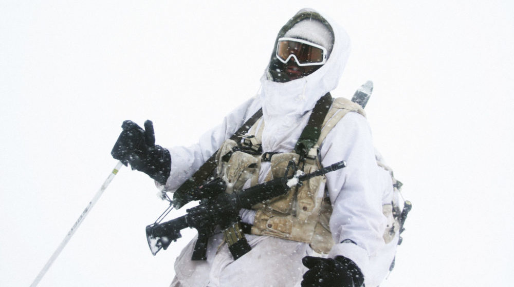 Soldier in Snow