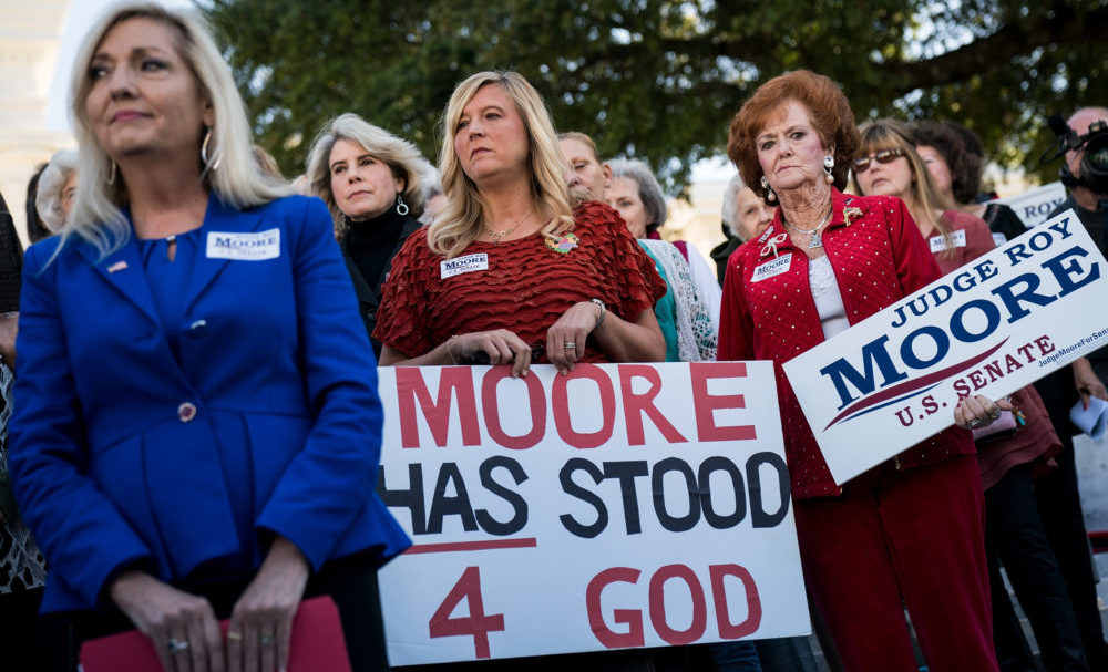 White Female Roy Moore Supporters