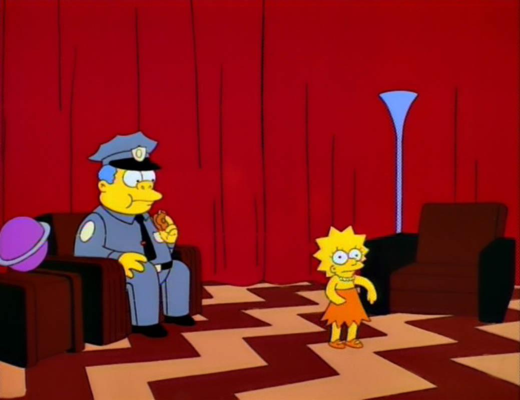 Twin Peaks Red Room Simpsons