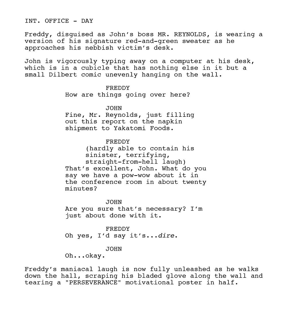 Leaked 'Nightmare on Elm Street' Script Reveals Most ...