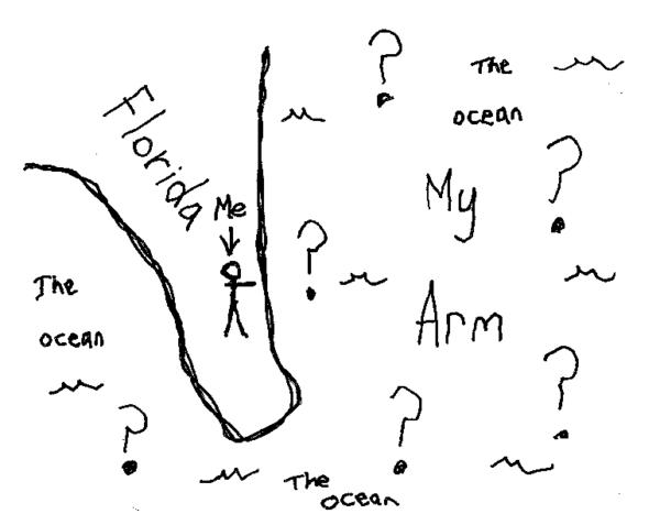 Map of ocean
