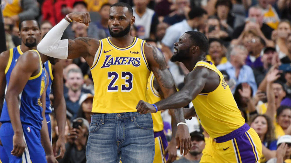 Still the GOAT LeBron James Forgets Shorts Plays Game in Jeans ffe634d7c
