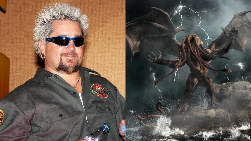 Quiz: The Food Network's Guy Fieri or Lord of the Watery Abyss Cthulhu?
